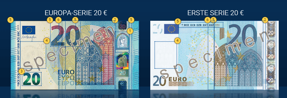So Sieht Der Neue 20 EURO Schein Aus