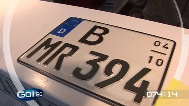 100 Sekunden: Autokennzeichen