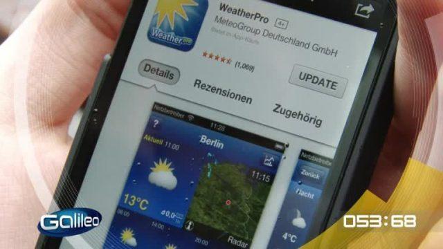 100 Sekunden: Wetter-Apps
