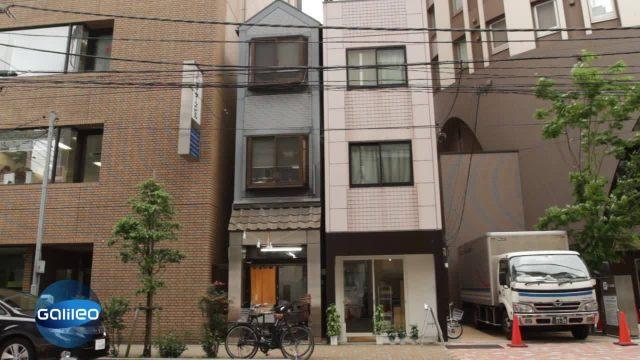 Bildgeschichte - schmalstes Hause Japans