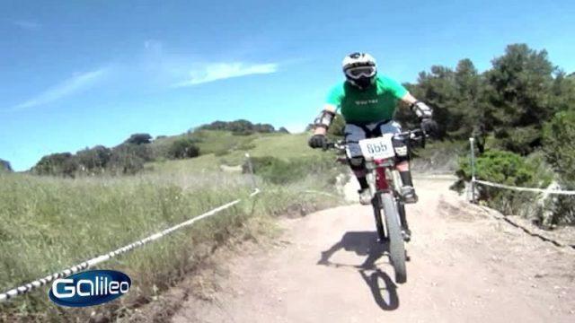 Blinder Mountainbiker