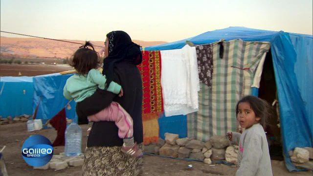 Provisorisches, inoffizielles Flüchtlingslager