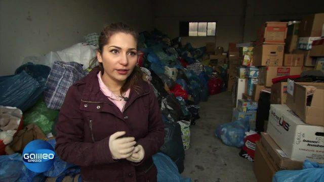 Sherin und Yasmin sammeln Spenden
