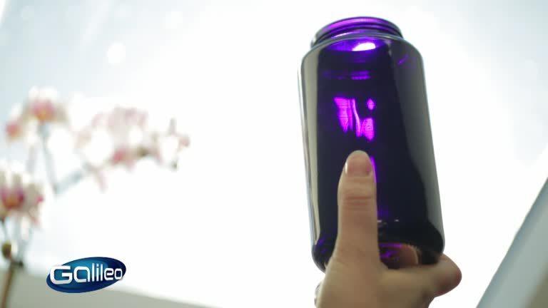 Violettes Glas