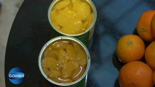 Wie kommt die Mandarine in die Dose