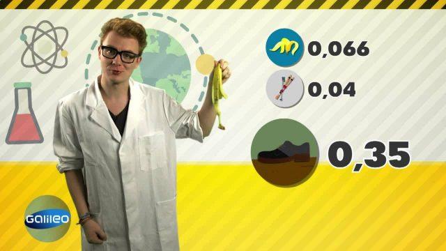 Wilde Wissenschaft Bananenschale