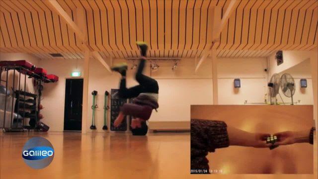 Breakdancer mit Köpfchen