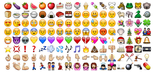 Sag 39 s in bildern der emoji boom for Emoticones para instagram