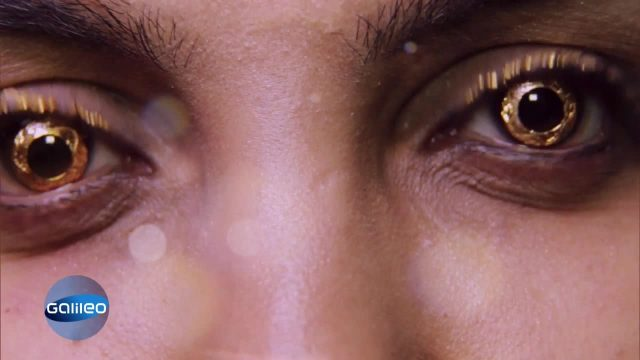 Bling Bling für die Augen: Kontaktlinsen aus Gold