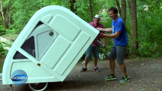 Der Campingwagen fürs Fahrrad