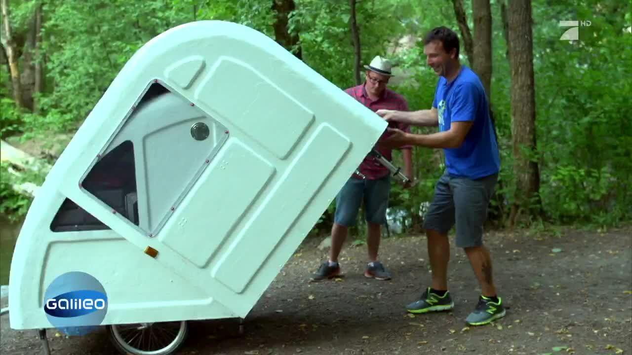 der campingwagen f rs fahrrad. Black Bedroom Furniture Sets. Home Design Ideas