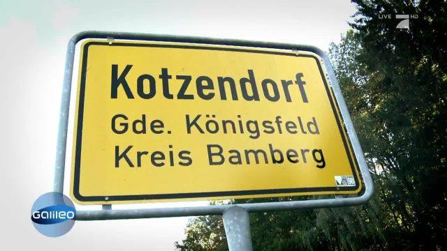 Ortsname mal anders: Kotzendorf