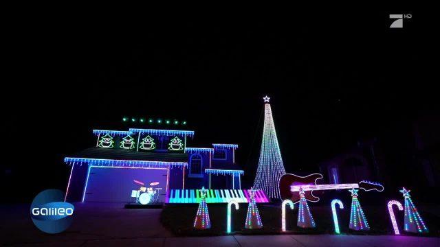 Crazy Weihnachts-Lichtshow in Kalifornien