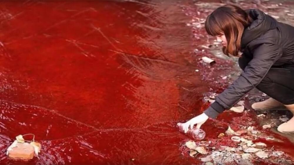Woher kommt der Blutregen in diesem spanischen Ort?