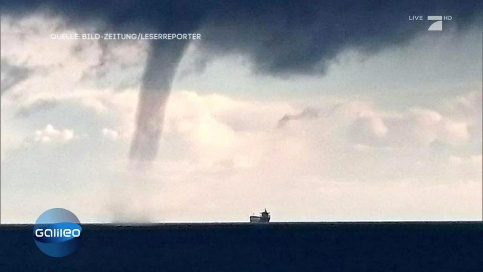 Wetterwahnsinn: Tornado über der Ostsee