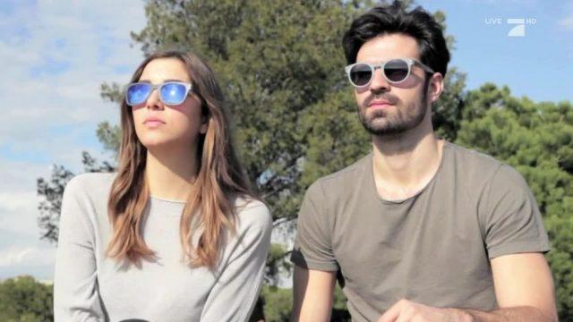 Sonnenbrillen aus Jeans-Stoff