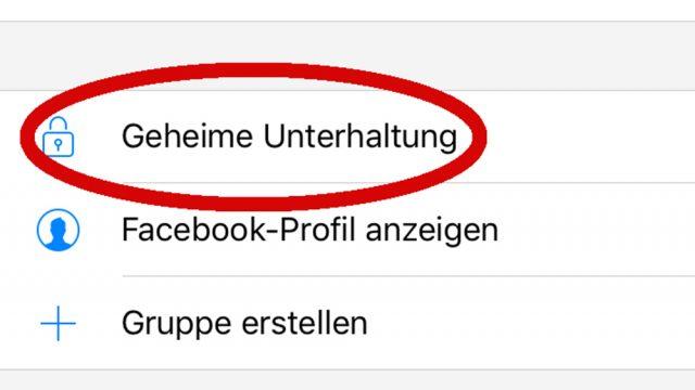 Geheime Nachrichten im Facebook-Messenger