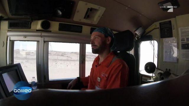 Die Lokführer in der Wüste von Abu Dhabi