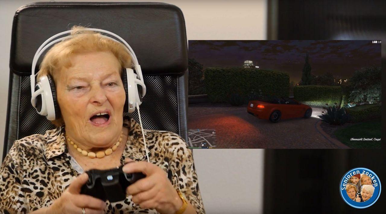 grannies haben ihren spass