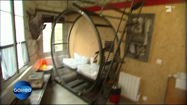 Platz 4: Übernachten im Hamster-Rad