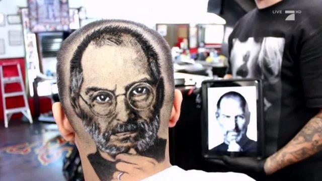Außergewöhnlicher Haar-Trend: Realistische Fotos am Kopf