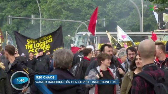 Chaos beim G20-Gipfel in Hamburg