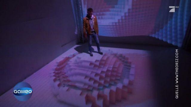 Verrückte Computeranimation, die sich der menschlichen Bewegung anpasst