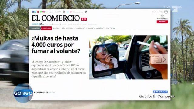 4.000 Euro Strafe für Rauchen am Steuer - fake oder wahr?