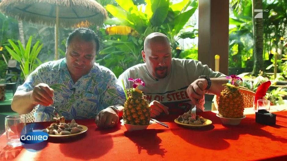 Das ist ein traditionelles Pulled Pork - auf hawaiianisch