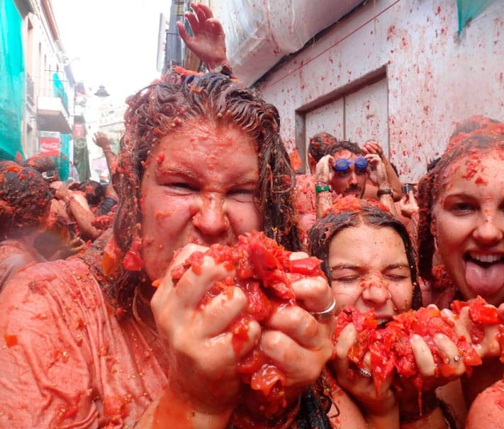 La Tomatina: 22.000 Teilnehmer bei Tomatenschlacht in Buñol