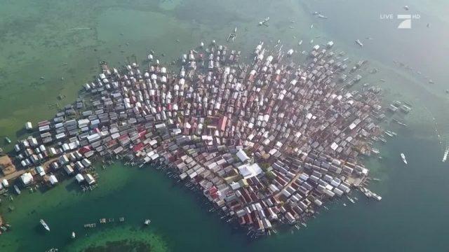 Platzmangel auf einer Insel mitten im indischen Ozean