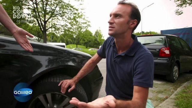 Wie reagiert man bei einem platten Reifen während der Fahrt?