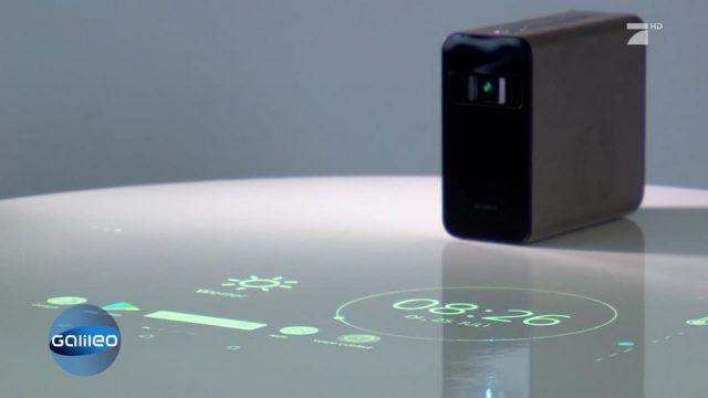 Der Touchscreen-Beamer