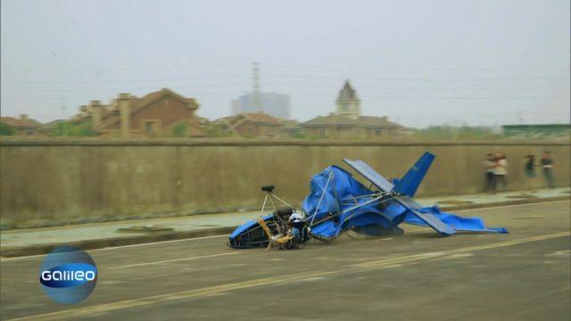 Deswegen riskieren flugwütige Aeronauten in China ihr Leben