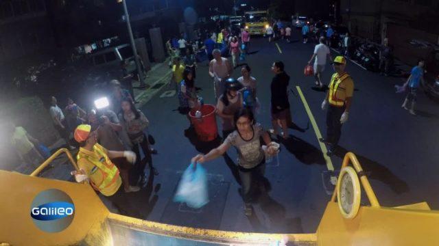In Taiwan wird die Müllabgabe zum Volkssport