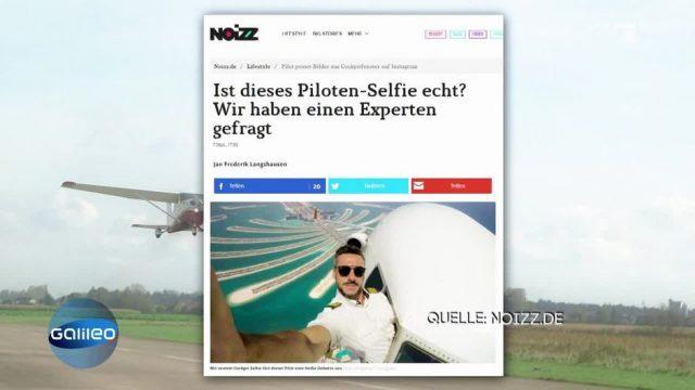 Kann ein Pilot aus dem Cockpit ein Selfie schießen?