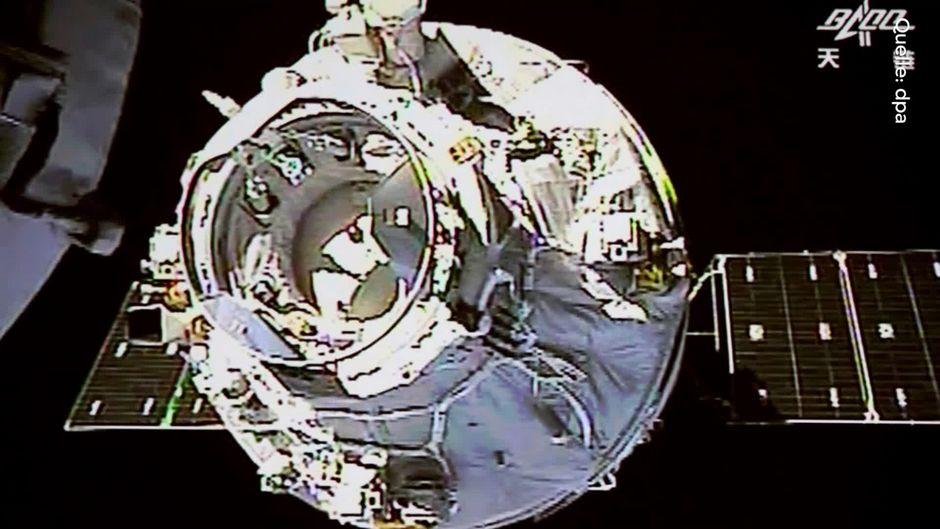 Teile der chinesischen Raumstation stürzen unkontrolliert auf die Erde