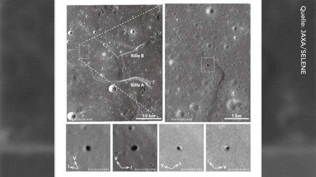 Unterirdische Höhle auf dem Mond gefunden