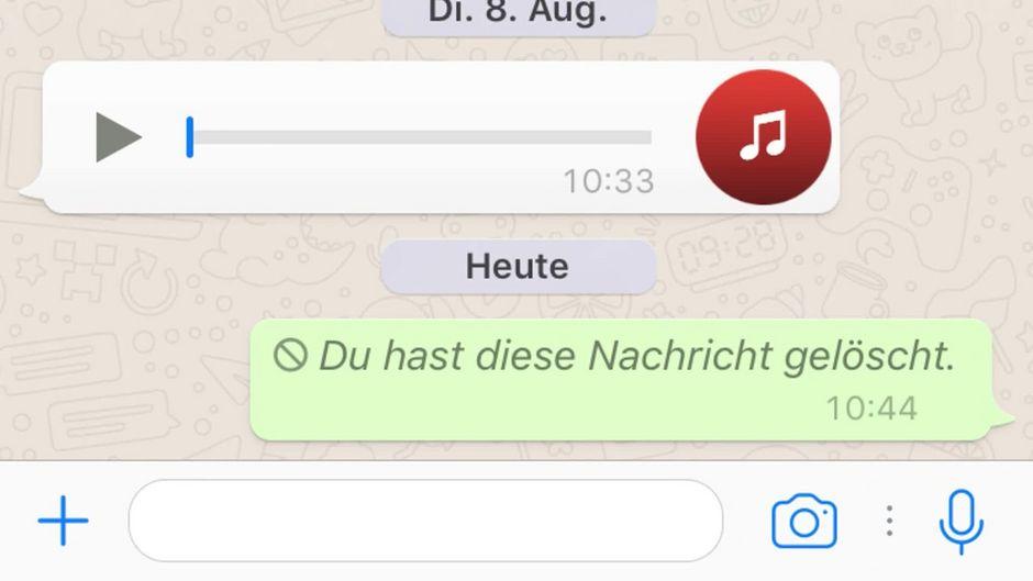 WhatsApp-Nachrichten auch nach mehr als 7 Minuten löschen