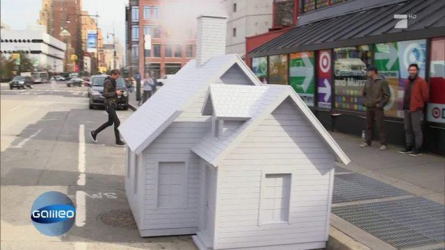 Deshalb steht hier mitten auf der Straße ein Haus
