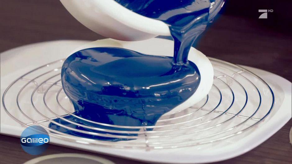 Reflektierende Leckerei Kuchen Mit Glasglasur