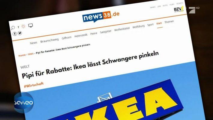 Schlagzeile auf der Website