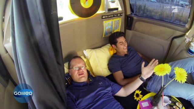 In New York kannst du im Taxi übernachten