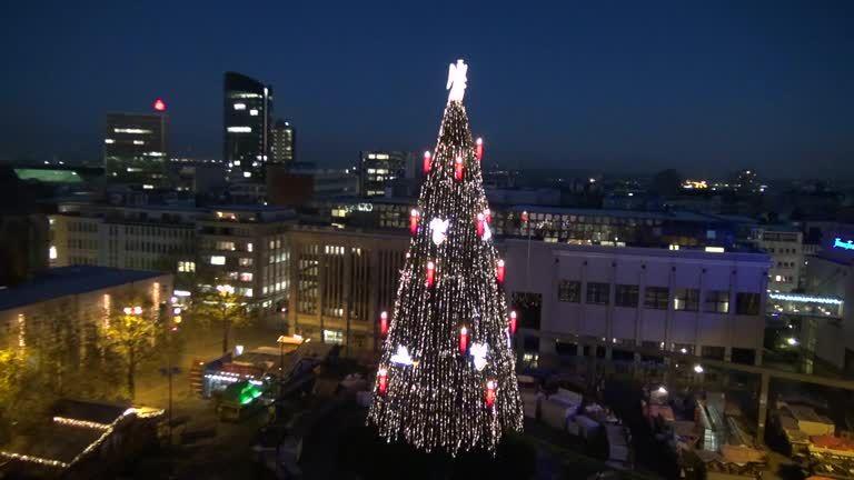 Größter Tannenbaum Deutschlands.Größter Weihnachtsbaum Flugbilder