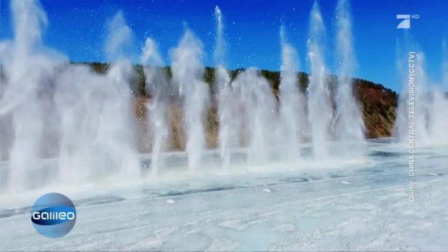 Clips der Woche: Chinesische Regierung sprengt eingefrorenen Fluss