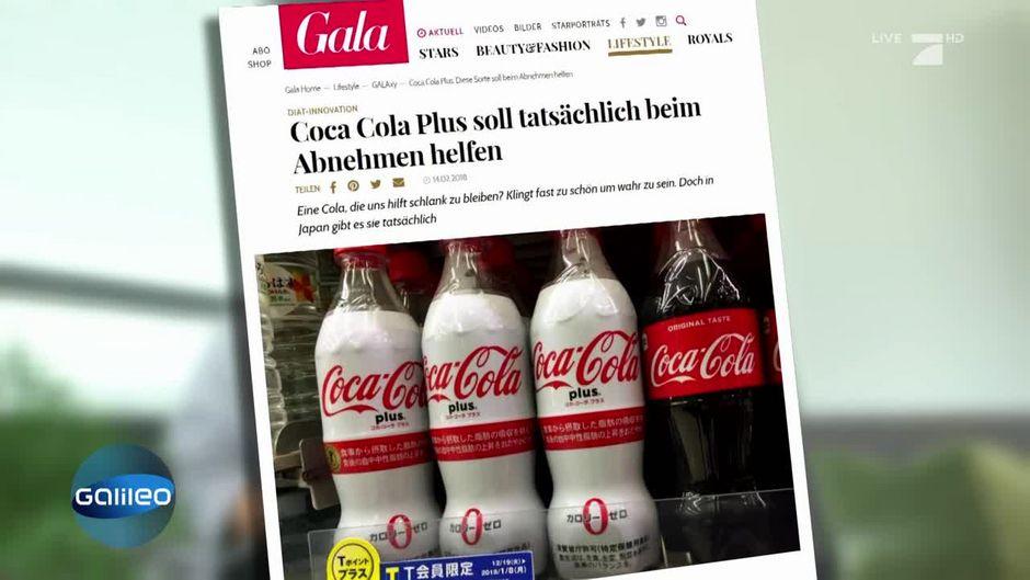Finde die Fake News: Abnehmen mit Cola