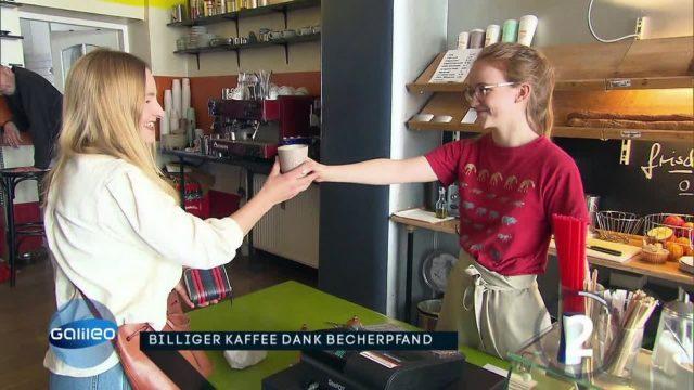 Günstiger Kaffee dank Becherpfand