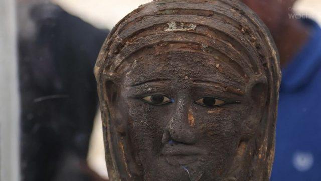 Sensations-Fund: Deutsche Forscher entdecken vergoldete Mumienmaske