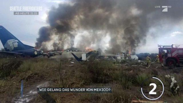 Flugzeugabsturz in Mexiko: Alle Passagiere überlebten!