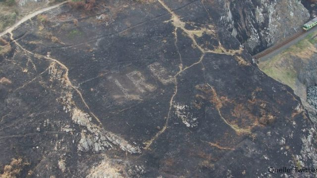 Irland: Waldbrände enthüllen versteckte Botschaften aus dem Zweiten Weltkrieg